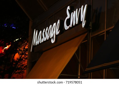 Bethesda, MD - September 20, 2017: The Massage Envy on Arlington Road.