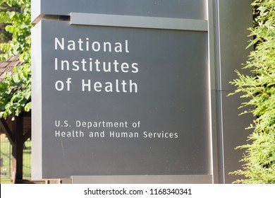 BETHESDA, MD / USA - JUNE 30, 2018: The National Institutes of Health is the nation's medical research agency and the largest biomedical research agency in the world.