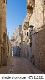 Bethlehem - The aisle in the Town with the Syrian orthodox church in background.