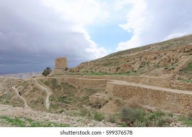 Bethlehem, Israel. - February 14.2017. Winter view in the Judean Desert near the Lavra of Savva the Sanctified