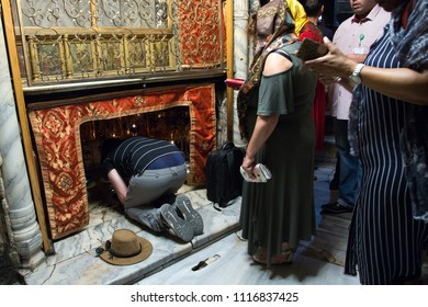 Bethlehem, Palestine, June 11, 2018:  Nativity church in Bethlehem.