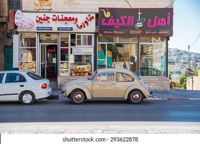 BETHLEHEM, PALESTINE - JUNE 2, 2015: The streets of the old city of Bethlehem. June 2, 2015. Bethlehem, Palestine.