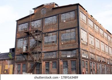 Bethlehem, Pennsylvania 08-01-2020 Ruins of Bethlehem Steel plant known as Steel Stacks.