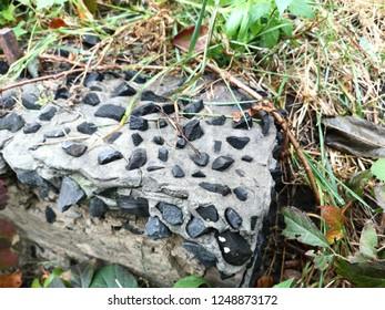 Beton and rock stones