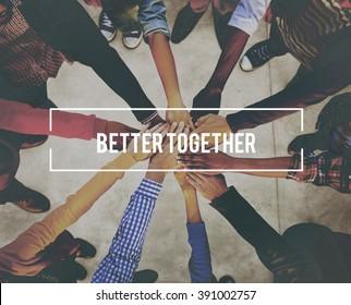Better Together Unity Community Teamwork Concept