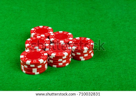 Betting chips on a card table