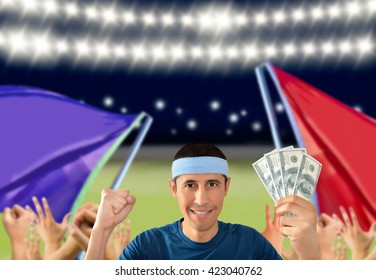 betting man and making a lot of dollar in the stadium