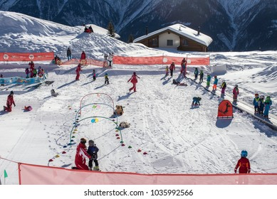 Bettmeralp,  JANUARY 05, swiss ski and snowboard school, January 05, 2015, Bettmeralp, Switzerland