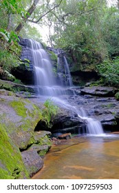 The beuatiful Guarani waterfall in the rainforest of Ybycui National Park, Paraguay, South America