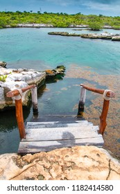 Beuatiful lagoon with blue water ideal for snorkeling.