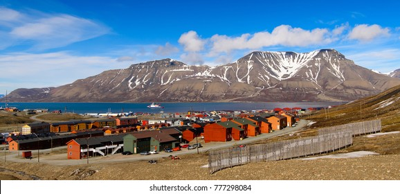 Beuatiful nature of Longyearbyen, Svalbard, Norway