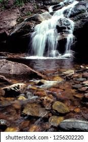 Beulach Ban Falls , Cape Breton Island, Cape Breton Highlands National Park, Nova Scotia, Canada,