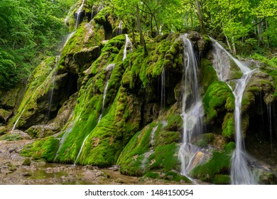 Beusnita waterfall in Cheile Nerei, Romania