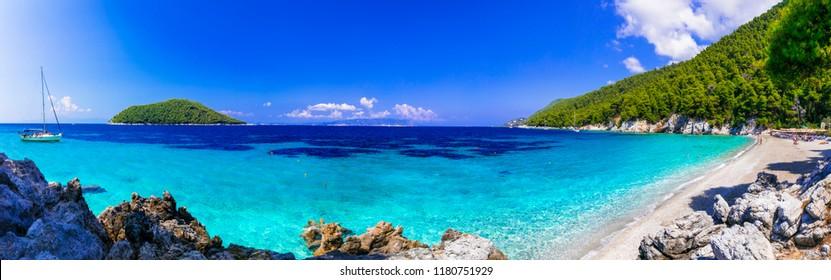 Beutiful beaches of Skopelos island. Kastani beach. Sporades, Greece