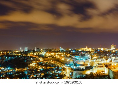 Beutiful Jerusalem at night, Israel
