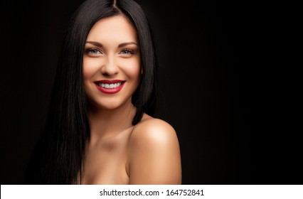 Beutiful woman with long hair
