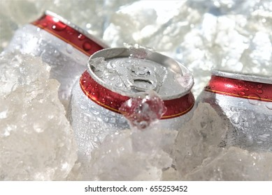 beverage can chill in ice