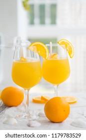 Beverage, drink, orange, mimosa