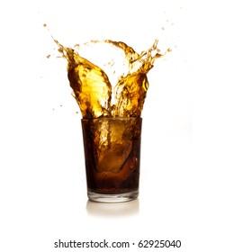 beverage splash isolated