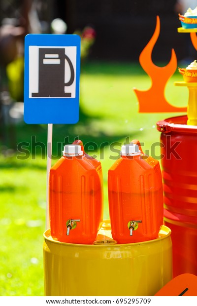 Beverages On Boys Birthday Party Big Stock Photo (Edit Now