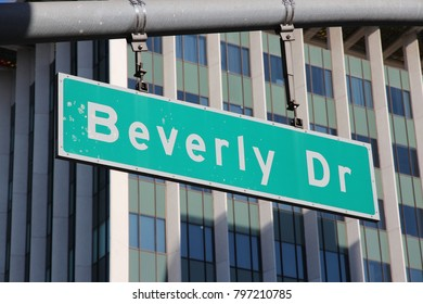 Beverly Drive sign in Beverly Hills, Los Angeles, California, USA.