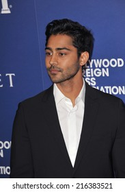 BEVERLY HILLS, CA - AUGUST 14, 2014: Actor Manish Dayal at the Hollywood Foreign Press Association's annual Grants Banquet at the Beverly Hilton Hotel.