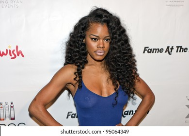 BEVERLY HILLS, CA - FEBRUARY 12: Teyana Taylor attends the Grammy after party at the Playboy Mansion on February 12, 2012 in Beverly Hills, California. (Photo by Jonathan S. Nowak)