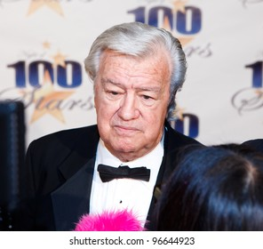 BEVERLY HILLS, CA - FEBRUARY 26: Actor Ron Masak arrives for Norby Walters' 22nd Annual Night Of 100 Stars event held at The Beverly Hills Hotel on February 26, 2012 in Beverly Hills, California.