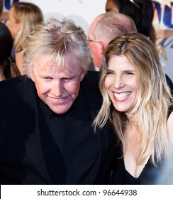BEVERLY HILLS, CA - FEBRUARY 26: Actor Gary Busey arrives for Norby Walters' 22nd Annual Night Of 100 Stars event held at The Beverly Hills Hotel on February 26, 2012 in Beverly Hills, California.