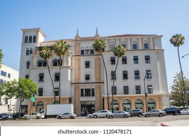 Beverly Hills, CA: June 21, 2018:  Barneys New York Inc. store in the city of Beverly Hills.  Barneys New York Inc. is an upscale fashion retailer.
