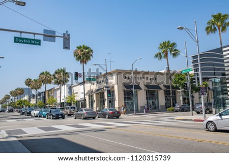 Beverly Hills CA June 21 2018 Stock Photo (Edit Now