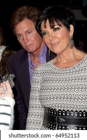 BEVERLY HILLS, CA - NOVEMBER 11: TV Personality Kris and Bruce Jenner, arriving to the Endless Youth & Life store opening celebration, on November 11, 2010 in Beverly Hills, CA