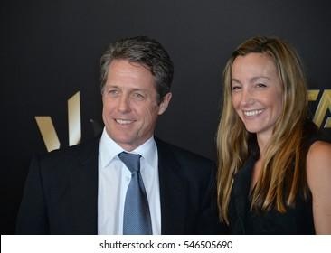 BEVERLY HILLS, CA. November 6, 2016: Actor Hugh Grant & partner Anna Elisabet Eberstein at the 2016 Hollywood Film Awards at the Beverly Hilton Hotel.