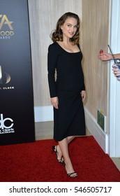 BEVERLY HILLS, CA. November 6, 2016: Actress Natalie Portman at the 2016 Hollywood Film Awards at the Beverly Hilton Hotel.
