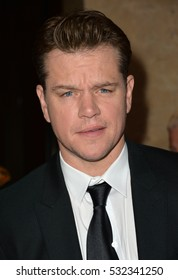BEVERLY HILLS, CA. October 14, 2016: Matt Damon at the 30th Annual American Cinematheque Award gala honoring Ridley Scott & Sue Kroll at The Beverly Hilton Hotel, Beverly Hills.