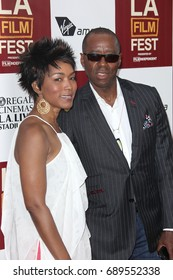 "Beverly Hills, CA, USA; June 20, 2012; Angela Bassett and Courtney B. Vance  arriving to the premiere of ""Middle of Nowhere"" during 2012 Independent Los Angeles Film Festival at the Beverly Hilton."