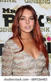 Beverly Hills, CA, USA; October 11, 2012; Lindsay Lohan arrives to the Mr Pink Ginseng Drink Launch Party at the Beverly Wilshire in Beverly Hills, California.