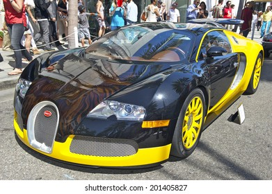 "BEVERLY HILLS, CALIFORNIA - JUNE 15, 2014: 2008 Bugatti Veyron ""Bijan Edition"" owned by Bijan at the Rodeo Drive Concours D'Elegance on June 15, 2014 Beverly Hills, California, USA"