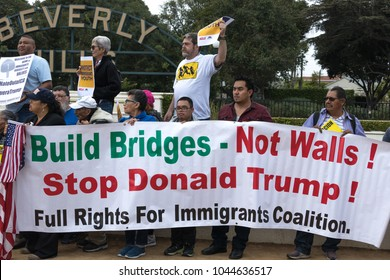 BEVERLY HILLS, CALIFORNIA - MARCH 12, 2018: Defend Dreamers Rally hosted by Coalition for Humane Immigrant Rights (CHIRLA).
