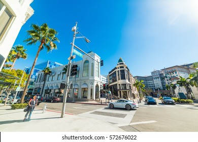 Beverly Hills, California - November 02, 2016: Rodeo Drive on a sunny day