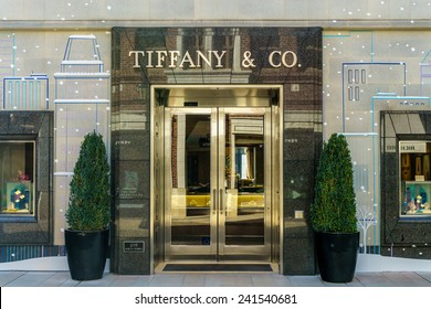 BEVERLY HILLS, CA/USA - JANUARY 3, 2015: Tiffany & Company store exterior. Tiffany's is an American multinational luxury jewelry and specialty retailer.
