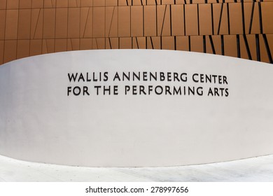 BEVERLY HILLS, CA/USA - MAY 10, 2015: The Wallis Annenberg Center for the Performing Arts. The Annenberg Center is a community arts center in Beverly Hills.