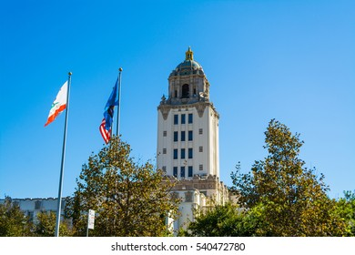 Beverly Hills city hall on a clear day, California