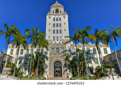 Beverly Hills City Hall in Southern California on a sunny day.