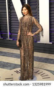 BEVERLY HILLS - FEB 24: Gemma Chan at the 2019 Vanity Fair Oscar Party at The Wallis Annenberg Center for the Performing Arts on February 24, 2019 in Beverly Hills, CA