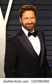 BEVERLY HILLS - FEB 24: Gerard Butler at the 2019 Vanity Fair Oscar Party at The Wallis Annenberg Center for the Performing Arts on February 24, 2019 in Beverly Hills, CA
