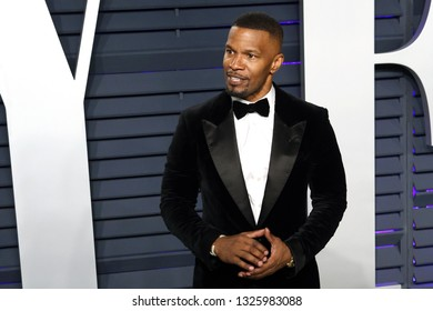 BEVERLY HILLS - FEB 24: Jamie Foxx at the 2019 Vanity Fair Oscar Party at The Wallis Annenberg Center for the Performing Arts on February 24, 2019 in Beverly Hills, CA