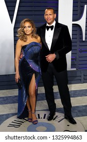BEVERLY HILLS - FEB 24: Jennifer Lopez, Alex Rodriguez at the 2019 Vanity Fair Oscar Party at The Wallis Annenberg Center for the Performing Arts on February 24, 2019 in Beverly Hills, CA