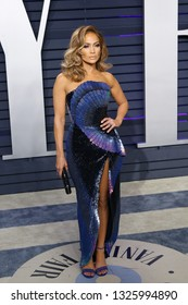 BEVERLY HILLS - FEB 24: Jennifer Lopez at the 2019 Vanity Fair Oscar Party at The Wallis Annenberg Center for the Performing Arts on February 24, 2019 in Beverly Hills, CA