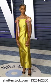 BEVERLY HILLS - FEB 24: Letitia Wright at the 2019 Vanity Fair Oscar Party at The Wallis Annenberg Center for the Performing Arts on February 24, 2019 in Beverly Hills, CA